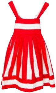 Helena short dress red/white on Tradesy