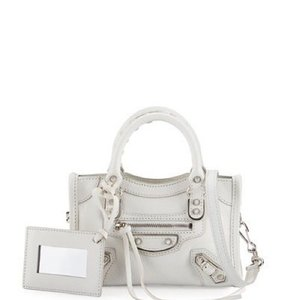 64b6283bfd Balenciaga Classic Nano City White Cross Body Bag - Tradesy