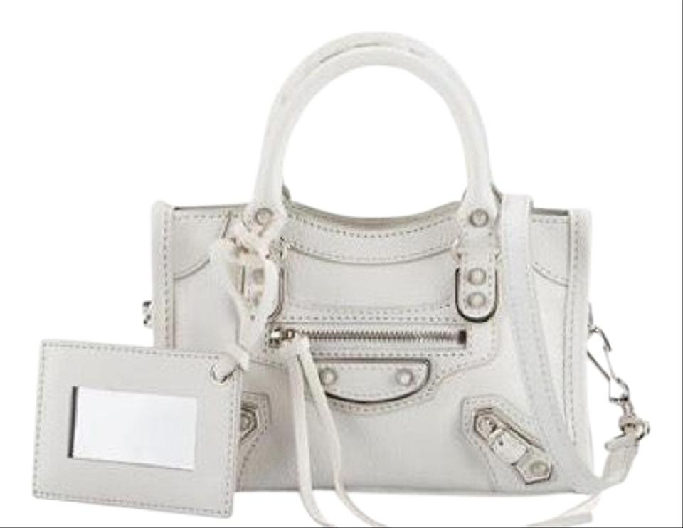2a2ad0343287 Balenciaga Classic Nano City White Cross Body Bag - Tradesy