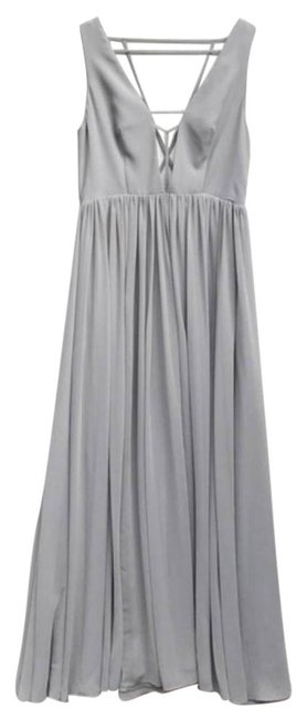 Preload https://img-static.tradesy.com/item/24848233/fame-and-partners-gray-gown-long-formal-dress-size-10-m-0-1-650-650.jpg