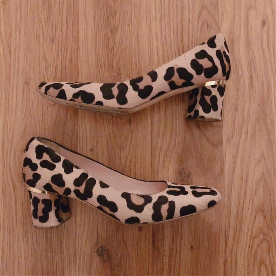 c901a1bd9106 Kate Spade Leopard Dolores Too Print Calf Hair Pumps Wedges Size US 6  Regular (M