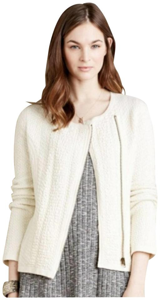 483194e3382a6 Anthropologie White Angel Of The North Textured Vero Cardigan Jacket ...