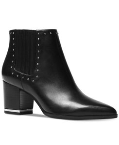 Michael Kors Studded Gold Hardware Ankle Night Out Black Boots