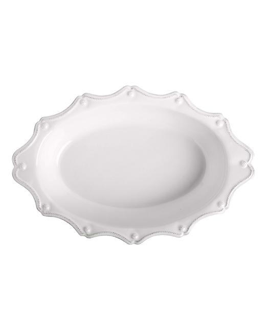 """Item - White Berry & Thread Whitewash 13"""" Oval Baker Casual China"""