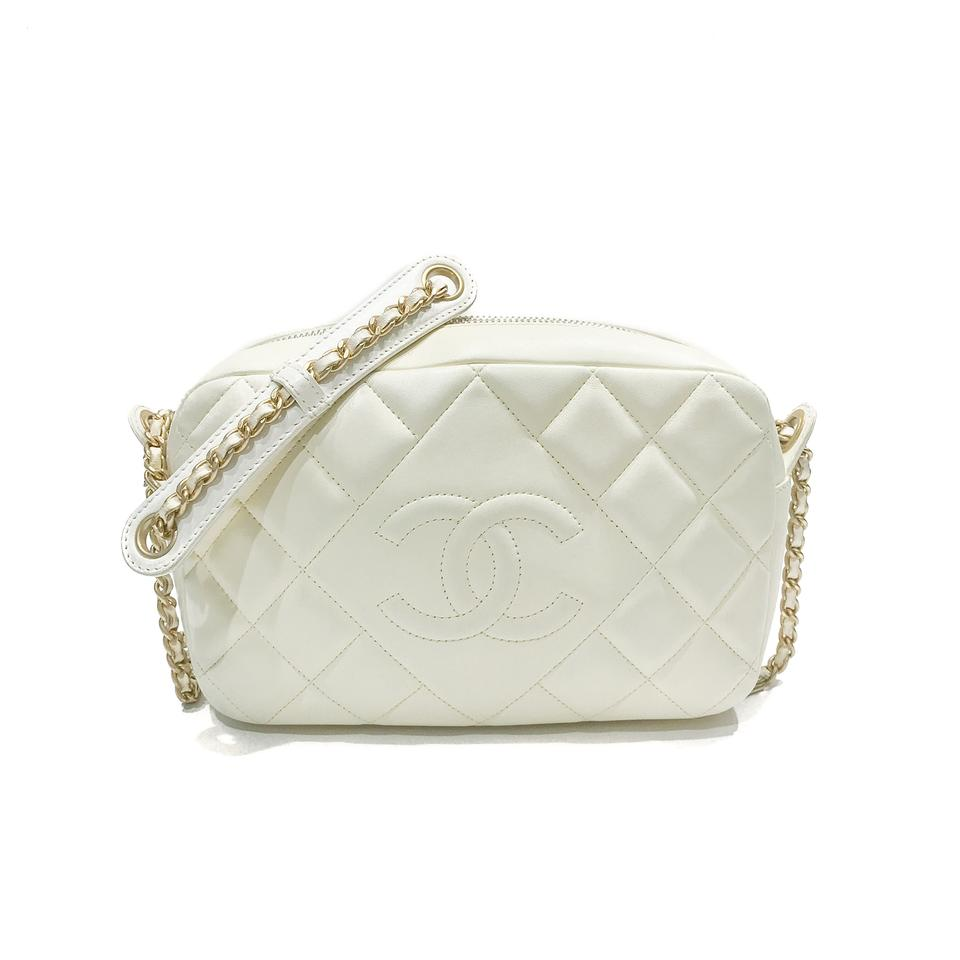 9ea8675097c655 Chanel Camera Quilted Small Ballerine Case Off-white Calfskin ...