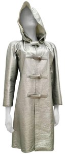 Courreges Vintage 1980's Couture Patent Leather Trench Coat