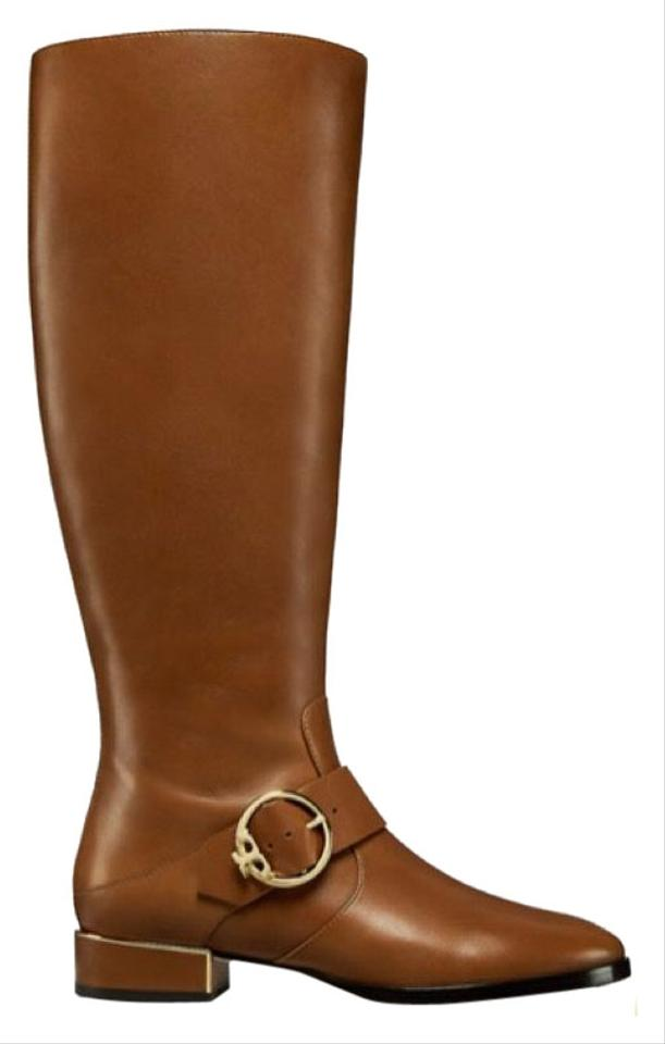 4a917b7c91c16c Tory Burch Festival Brown Sofia Riding Boots Booties Size US 8 ...