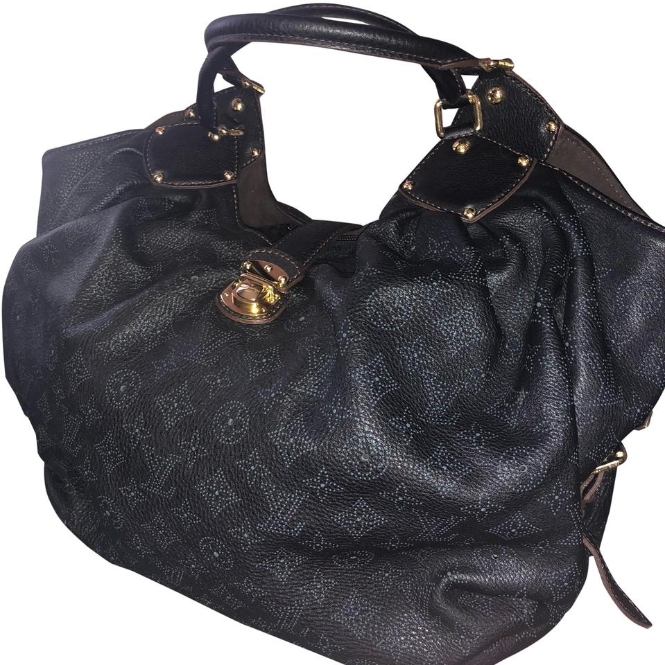 3618eb397a3 Louis Vuitton Mahina Monogram Xl Black Calfskin Leather Hobo Bag ...