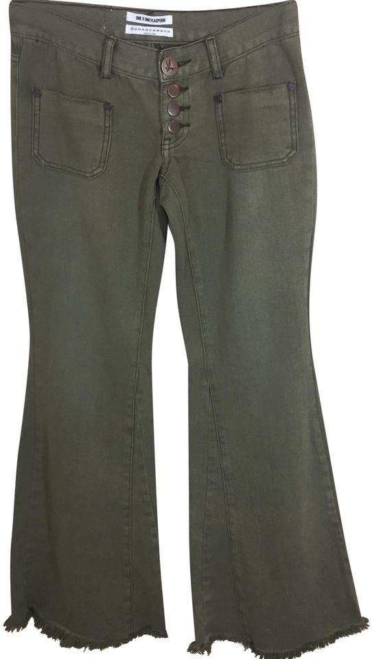 find lowest price limpid in sight hot-selling real Khaki Le Cats Flare Leg Jeans