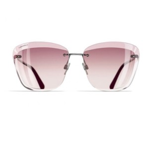 4b9074079c Chanel butterfly sunglasses metal silver and pink A71196