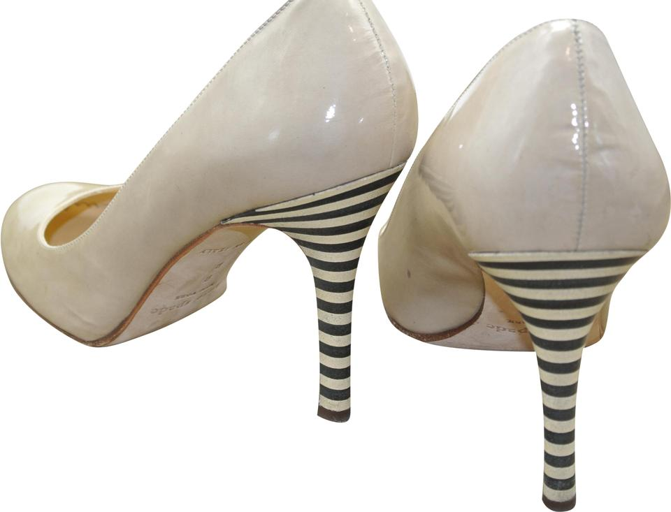 3383ac6c4f03 Kate Spade Nude Karolina Striped Pumps Size US 8 Regular (M
