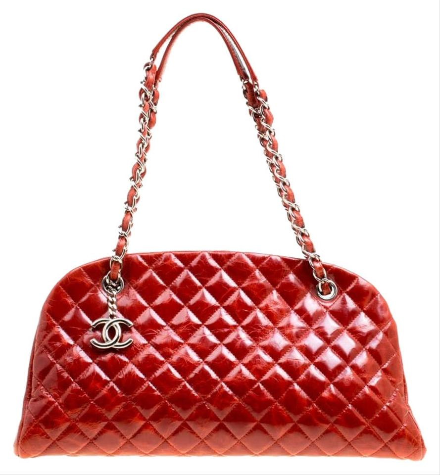 fe6234de92cb38 Chanel Mademoiselle Quilted Glazed Crackled Medium Just Bowling B ...