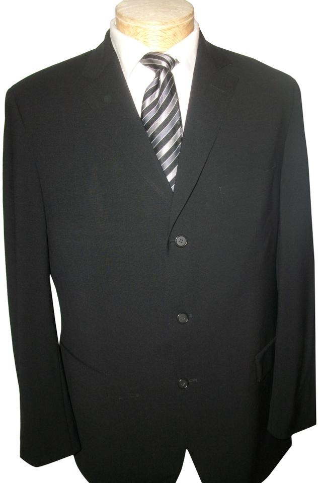 4556fb821 Hugo Boss Black Men's Wool 44r Blazer Size 14 (L) - Tradesy
