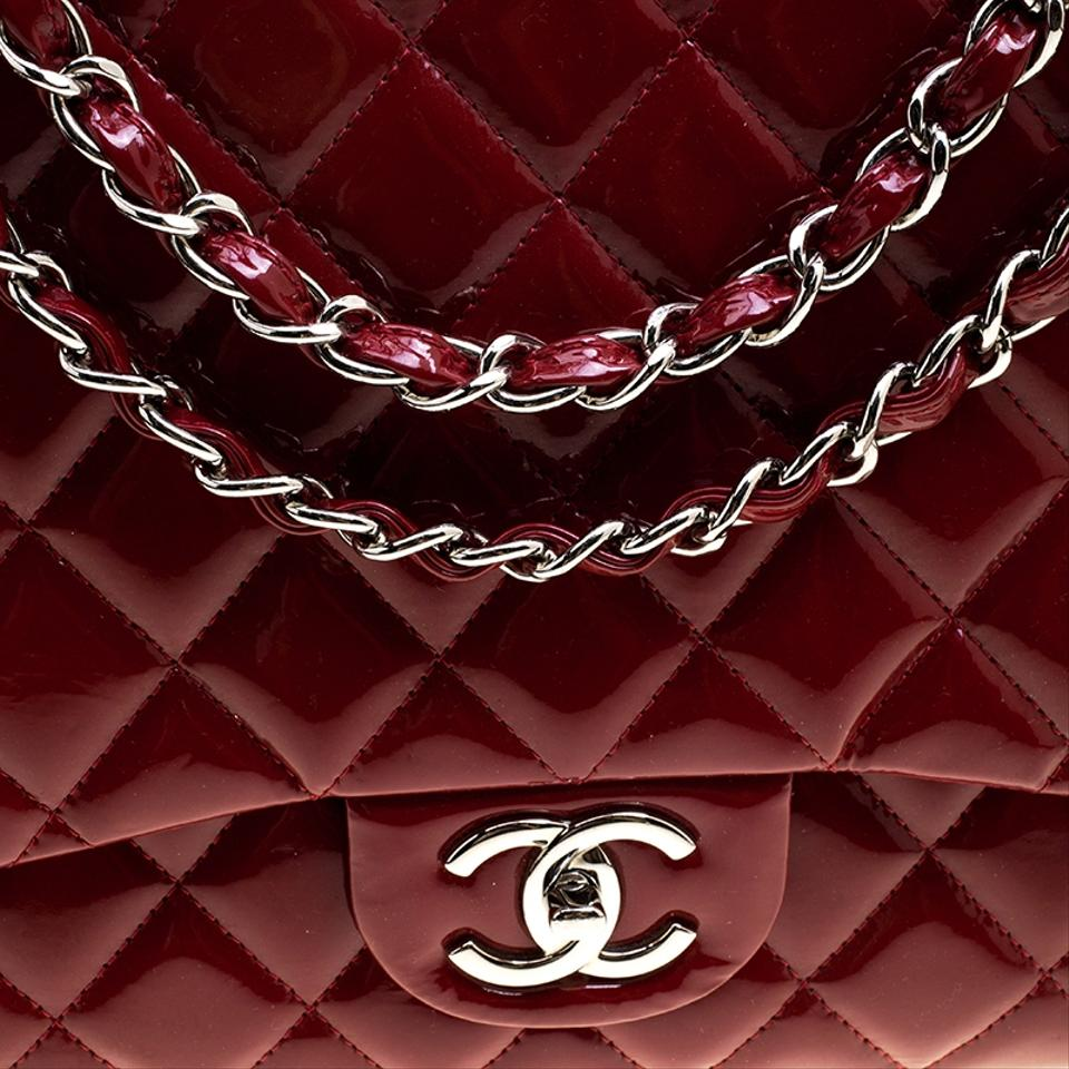 382259d431d2 Chanel Classic Flap Quilted Maxi Classic Double Red Patent Leather Shoulder  Bag