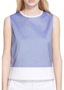 Theory Top blue white