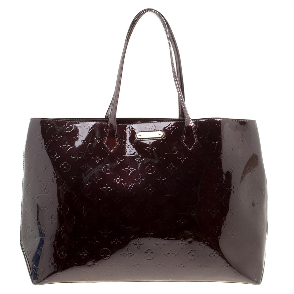 cd166977bce7c Louis Vuitton Wilshire Amarante Monogram Vernis Gm Burgundy Patent ...