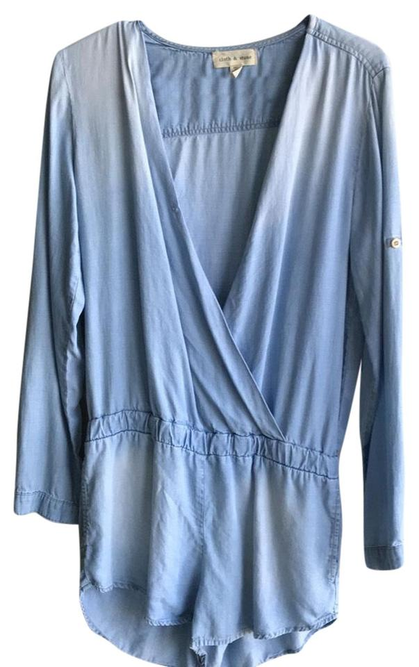 00be5162b612 Anthropologie Blue Cloth Stone Romper Jumpsuit - Tradesy