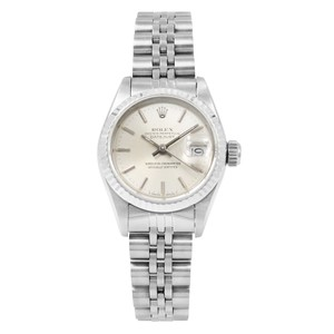 Rolex Datejust Silver Sticks Dial Automatic Steel White Gold Ladies Watch