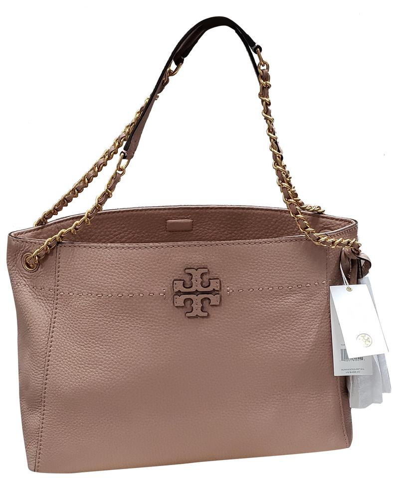 ca1acfe15f6 Tory Burch 41780 0318 Mcgraw Pink Leather Tote - Tradesy