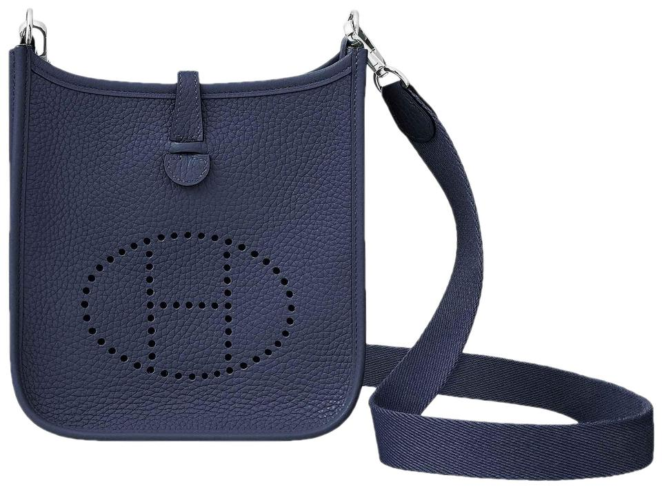 6c614a64787f Hermès Evelyne Tpm 16cm Mini Bleu Nuit Navy Clemence Leather Cross ...