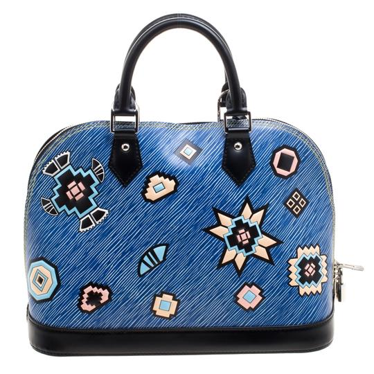 Louis Vuitton Leather Satchel in Blue Image 1