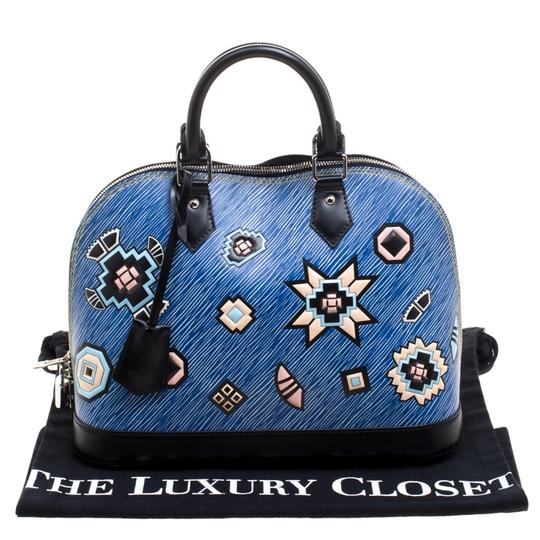 Louis Vuitton Leather Satchel in Blue Image 11