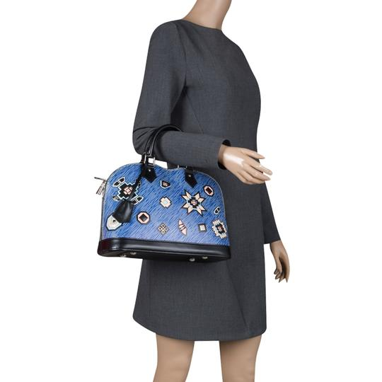 Louis Vuitton Leather Satchel in Blue Image 2