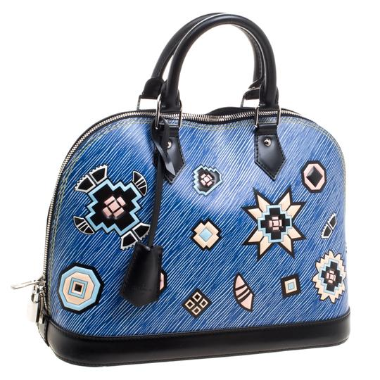 Louis Vuitton Leather Satchel in Blue Image 3