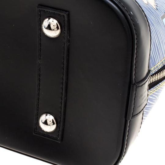 Louis Vuitton Leather Satchel in Blue Image 4