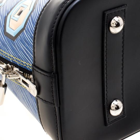 Louis Vuitton Leather Satchel in Blue Image 8