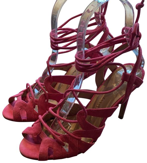 Item - Pink Cage Lace-up Sandals Size US 5.5 Regular (M, B)