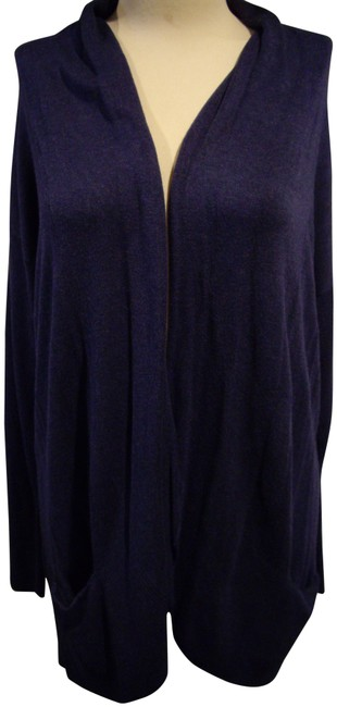 Preload https://img-static.tradesy.com/item/24850467/eileen-fisher-blue-open-front-cardigan-size-6-s-0-1-650-650.jpg