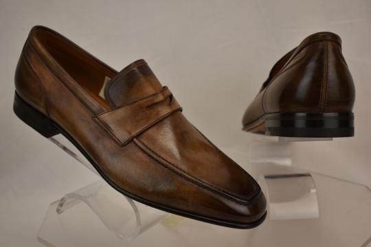 Bally Brown Brent Tobacco Kangaroo Leather Penny Loafers 8.5 Ee+ Swiss Shoes Image 10