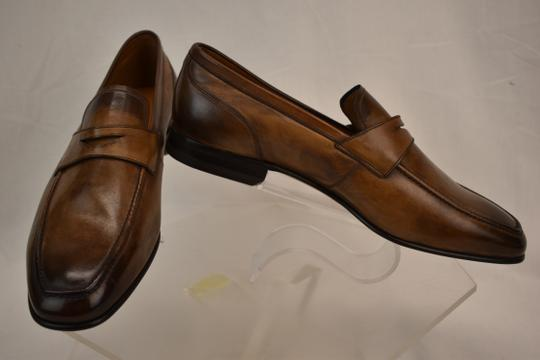 Bally Brown Brent Tobacco Kangaroo Leather Penny Loafers 8.5 Ee+ Swiss Shoes Image 4