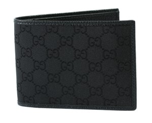 3452bcac6696 Gucci Black New 292534 Men's Nylon Gg Bifold Wallet - Tradesy