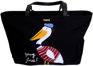 Kate Spade Canvas Tote in Black