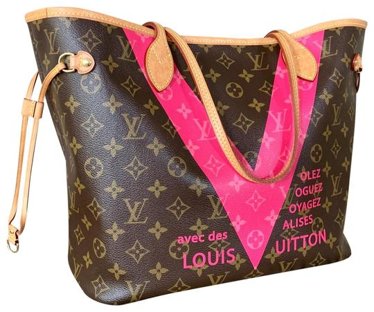 Preload https://img-static.tradesy.com/item/24850846/louis-vuitton-neverfull-limited-edition-pink-monogram-v-mm-tote-0-1-540-540.jpg