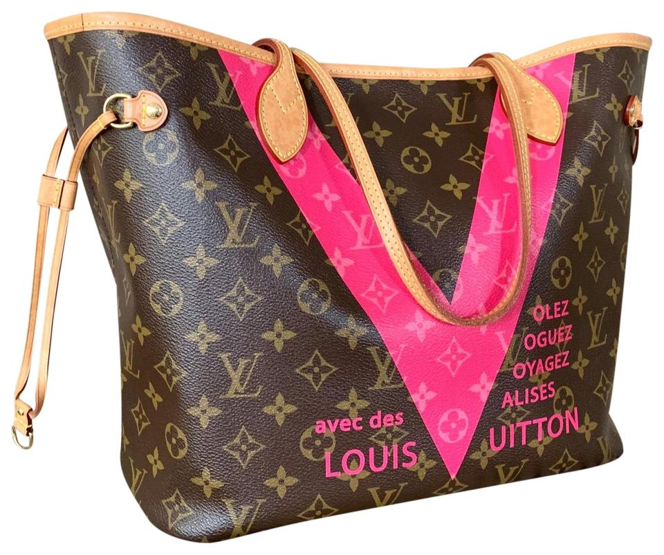 8c775b50c26 Louis Vuitton Neverfull Limited Edition Pink Monogram V Mm Tote ...