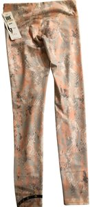 Alo Alo Yoga Peach Pink Python Snakeskin Print Leggings Full Length