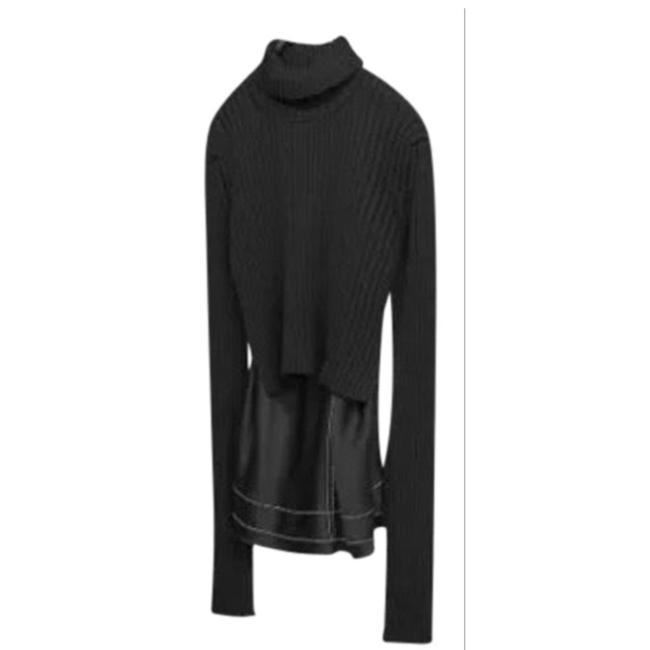 Preload https://img-static.tradesy.com/item/24850923/zara-new-studio-combined-knit-with-a-high-collar-black-sweater-0-0-650-650.jpg