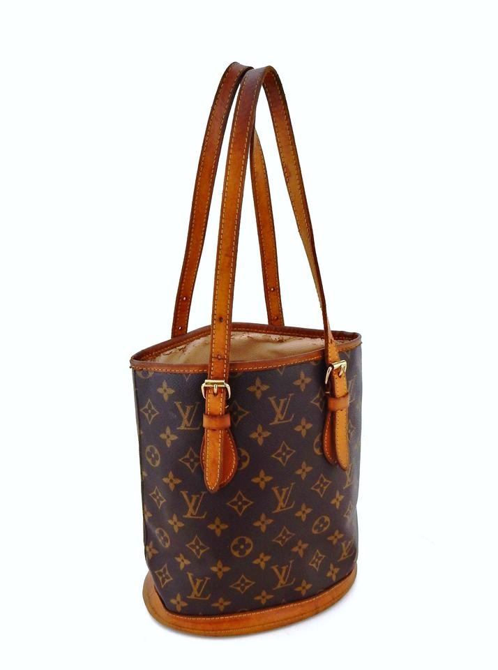 55f402f58505 Louis Vuitton Monogram Bucket Vintage France Shoulder Bag Image 0 ...