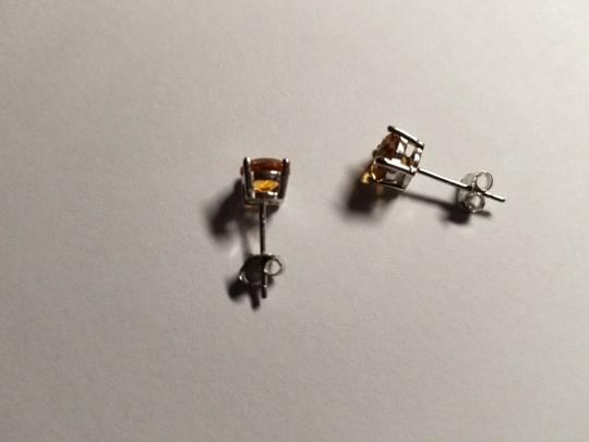 Eric Auctioneers 6MM Citrine Stud Earrings in Sterling Silver Citrine Jewelry Image 2