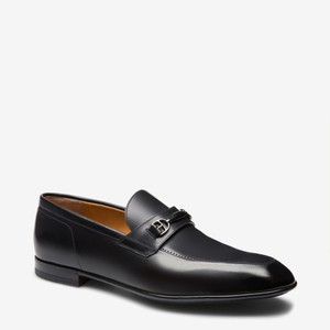 Bally Black Carew Leather Morsetto Horse Bit Classic Loafers 12 Ee+ 45 Swiss Shoes