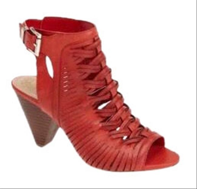 Item - Cherry Emore Leather Sandals Size US 6 Narrow (Aa, N)