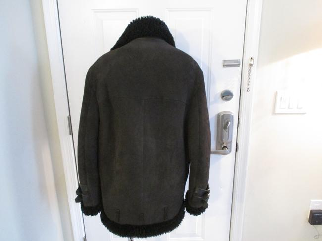 Acne Studios Suede & Shearling Size 34 Brown Leather Jacket Image 5