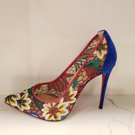 Christian Louboutin Heels Lace Floral Follies Multi Pumps Image 1
