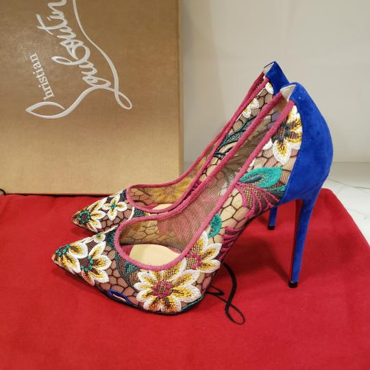 Christian Louboutin Heels Lace Floral Follies Multi Pumps Image 10