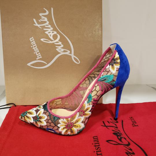 Christian Louboutin Heels Lace Floral Follies Multi Pumps Image 11