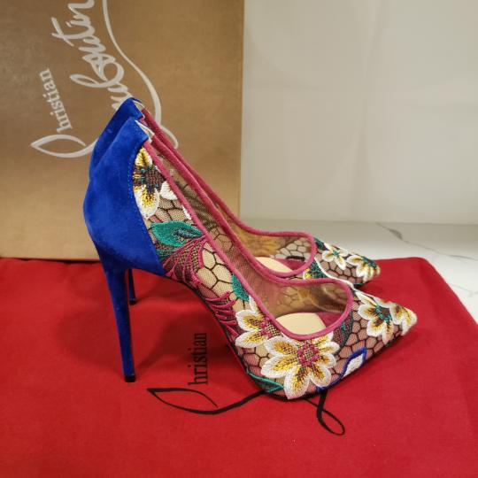 Christian Louboutin Heels Lace Floral Follies Multi Pumps Image 4