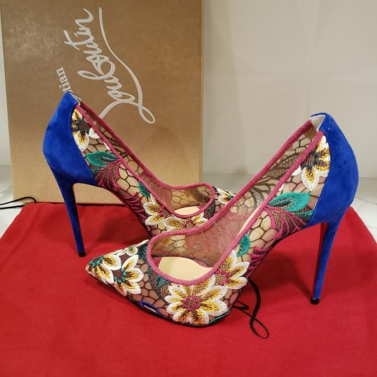 Christian Louboutin Heels Lace Floral Follies Multi Pumps Image 6